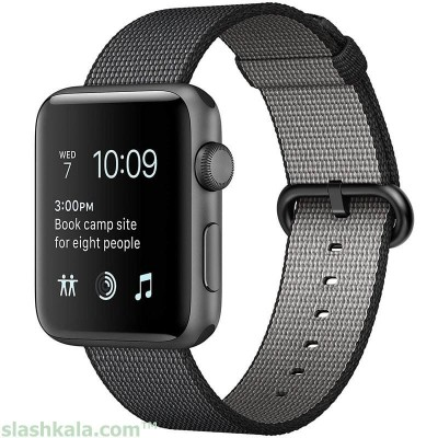 ساعت هوشمند اپل واچ 2 مدل Space Gray Aluminum Case | Apple Watch 2 Space Gray Aluminum Case with Black Woven Nylon Smart Watch